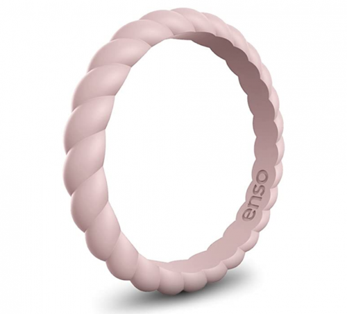 Enso Rings Stackable Braided Silicone Wedding Ring