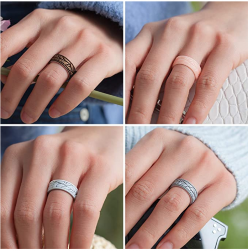 ThunderFit Silicone Rings for Women