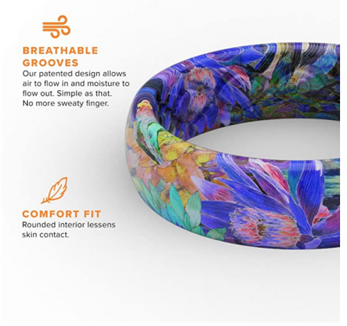 Groove Life Silicone Wedding Ring for Women Thin Aspire