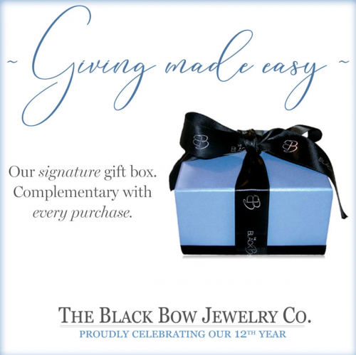 The Black Bow Jewelry Co Cross Necklace gift box