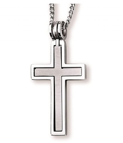 Stainless Steel Hinged Cross-within-a-Cross