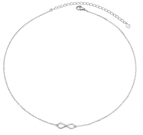 Silver Mountain S925 Sterling Silver Choker Short Dainty Necklace