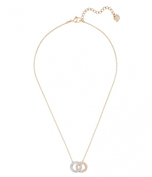 Swarovski Stone Women's Interlocking Circle Pendant Necklace