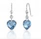 Ruby and Oscar Heart Shaped Topaz Drop Earrings