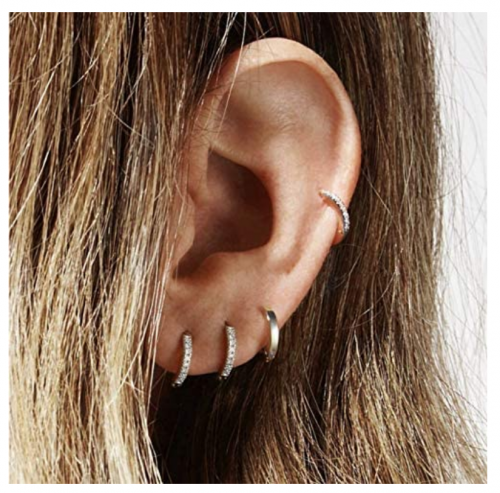 Famier 925 Sterling Silver Hoop Earrings