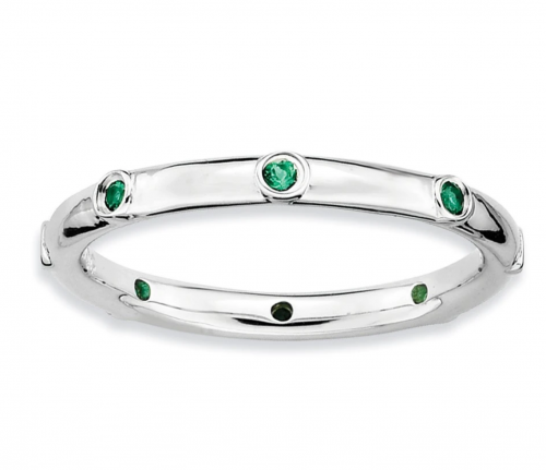 Black Bow Jewelry Co. Stackable Emerald Band