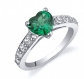 Ruby and Oscar Heart Shaped Emerald Ring