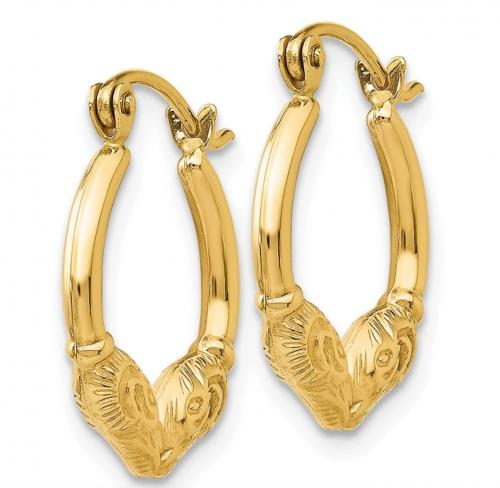Black Bow Jewelry Co. Ram Hoop Earrings