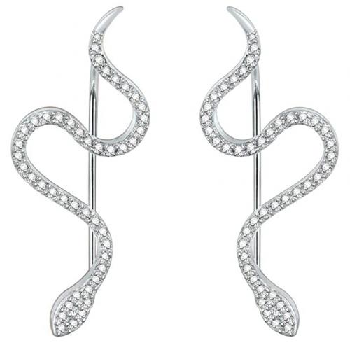 AoedeJ Snake Ear Climber Earrings