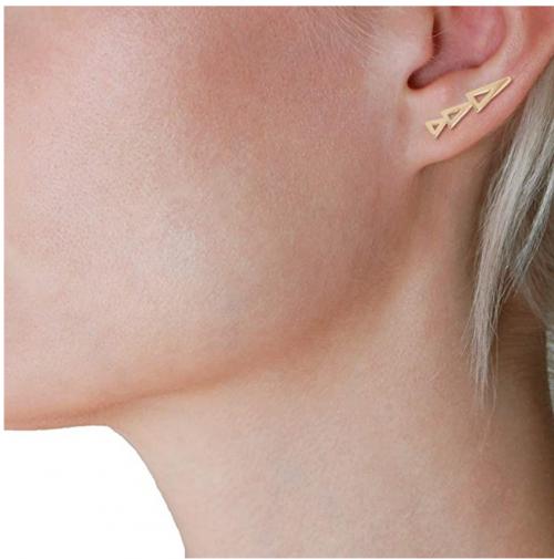 Humble Chic 14k Gold Plated Geometric Ear Climbers