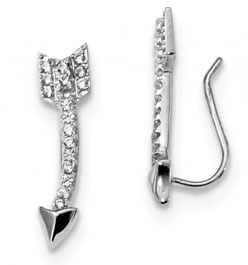 Black Bow Jewelry Co. Arrow Ear Climber Earrings