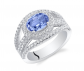 Ruby & Oscar Tanzanite & CZ Serenity Ring
