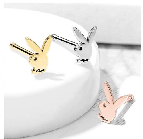 Playboy Bunny Top Nose Bone Stud Rings