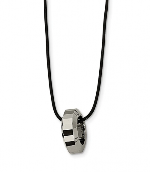 Black Bow Jewelry Co. Tungsten Ring Necklace