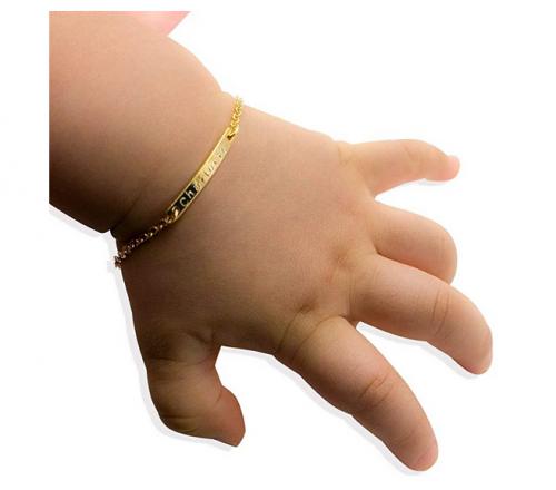 Baby Name Bar id Bracelet