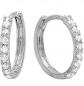Dazzlingrock Collection Diamond Huggies