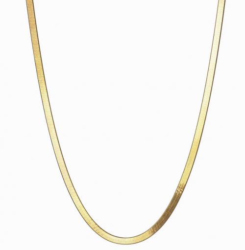Awe Inspired Herringbone Chain Necklace