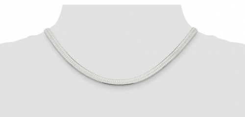 Black Bow Jewelry Co. Sterling Silver Solid Herringbone Chain Necklace