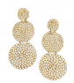 Gas Triple-Drop Earrings