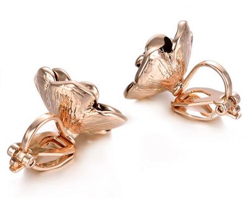 Yoursfs Rose Flower Clip on Earrings for Women Hypoallergenic Non Pierced Clips Earrings