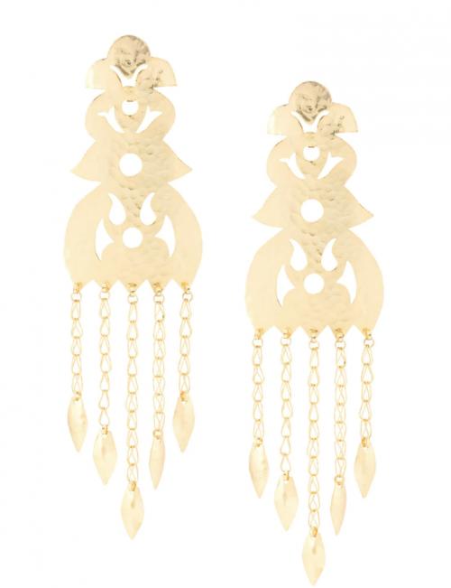 Josie Natori Crown Clip-On Earrings