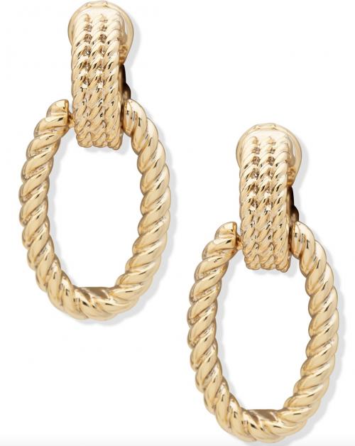 Ralph Lauren Rope Doorknocker Clip-On Drop Earrings
