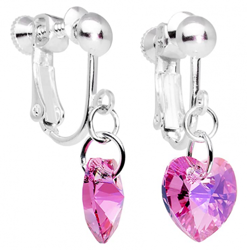 Body Candy Handcrafted Heart Clip Earrings