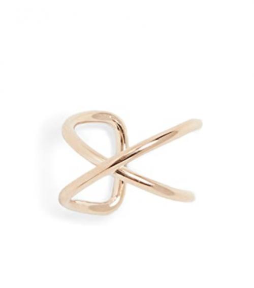 Zoe Chicco 14k Gold Thin X Wire Ear Cuff