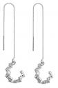SLUYNZ Silver Wave Cuff Earrings