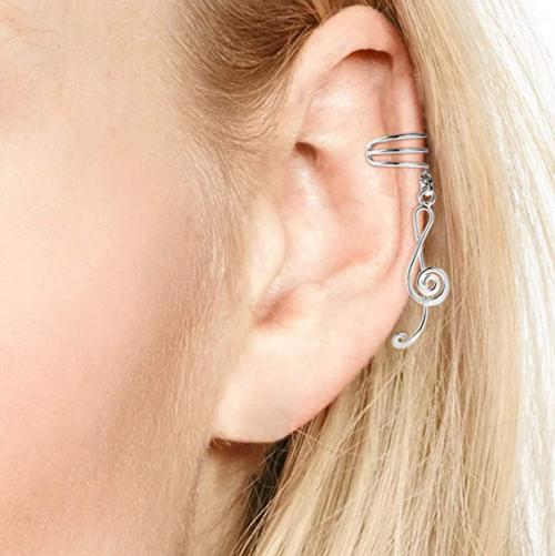 My Melody Treble Clef Ear Cuffs
