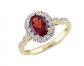 Sonatina Garnet, Topaz, Diamond Ring