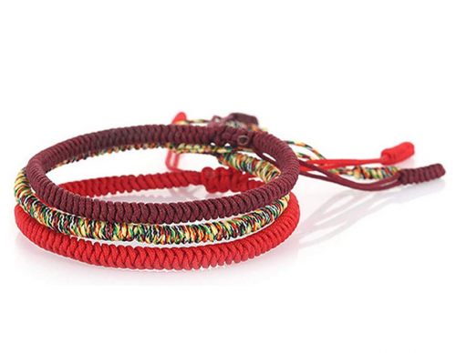 Huno Tibetan Knotted Red String