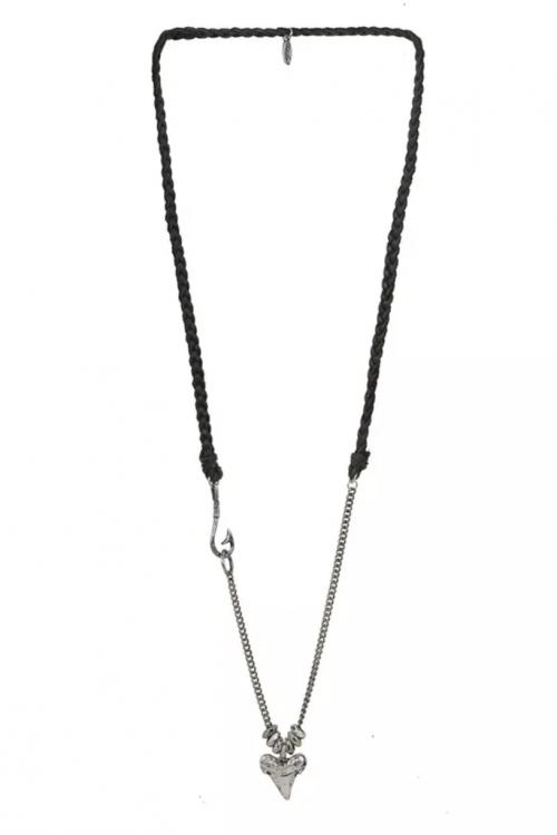 Mr. Ettika Shark Tooth Pendant Necklace