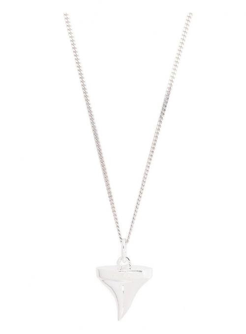 True Rocks Silver Shark Tooth Necklace