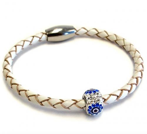 Liza Schwartz Evil Eye Good Luck and Protection Premium Leather Bracelet