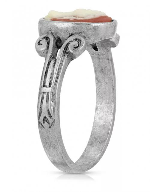 Macy's 2028 Pewter Carnelian Ring