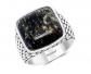 Effy Sterling Silver & Obsidian Ring