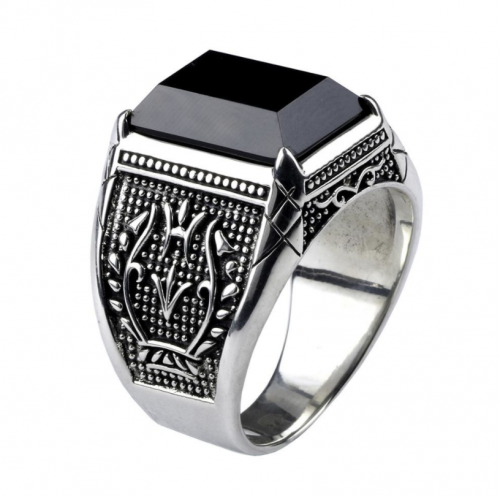 DHgate Vintage Obsidian Ring