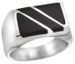 Sabrina Silver Black Obsidian Ring