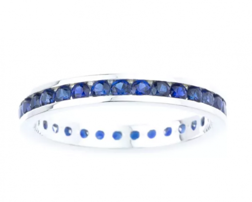 Macy's Channel-Set Sapphire Ring