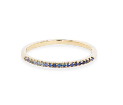 Stone and Strand Ombre Blue Sapphire Ring