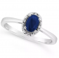 Macy's Sapphire and Diamond Ring