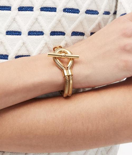 New York Gold-Tone Snake Chain Bracelet