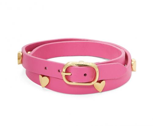 Heartful Leather Wrap Bracelet