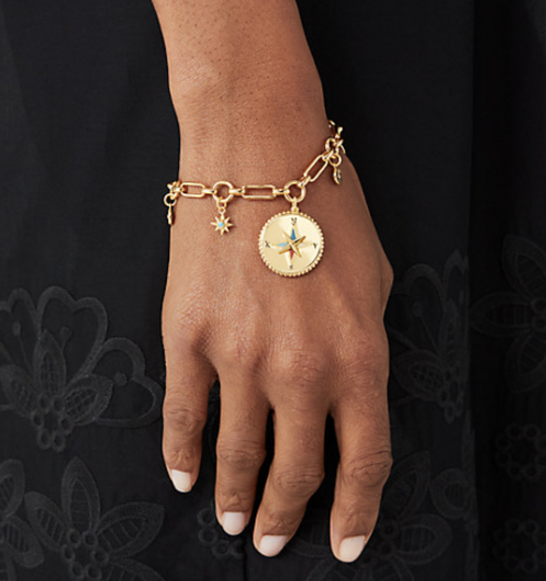 New York My Medallion Charm Bracelet