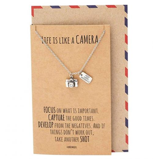 Quan Jewelry Vintage Camera Necklace