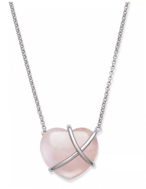 Macy's Heart Shaped Rose Quartz