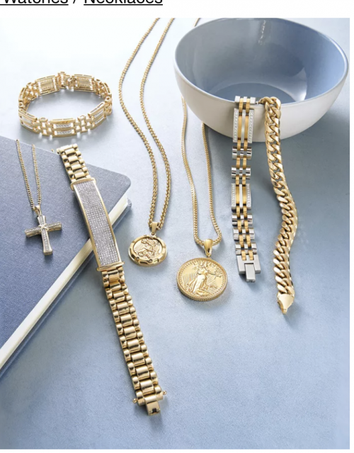 "Macy's Men's Coin 24""Necklace"