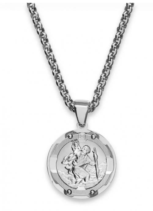 Macy's St. Christopher Diamond Necklace