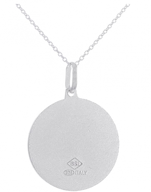 """JOTW Sterling Silver """"Protect Us"""" Round Pendant"""